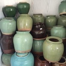 特价包邮 绿nu3老陶罐 se釉罐 花器摆件茶叶罐老物件古玩陶瓷