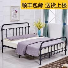 甩卖特nu铁艺床1.th室双的单的床公寓出租床1.8米环保