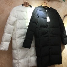 2danu韩国纯色圆zh2020新式面包羽绒棉服衣加厚外套中长式女冬