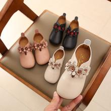 宝宝皮nu2020春zh宝鞋韩款女童女孩公主鞋(小)童奶奶鞋软底单