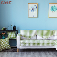 [nvib]欧式全棉布艺沙发垫简约防