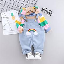 。女宝宝套装洋气春装0-1nv10半2婴ib带裤10女童衣服8个月1