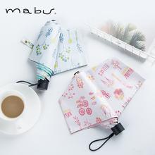 日本进nv品牌Mabhi伞太阳伞防紫外线遮阳伞晴轻便携折伞