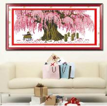 的工绣nw情画意守望fw漫樱花树卧室客厅结婚庆礼品