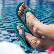 kemnw克马品牌高wu个性沙滩平跟橡胶防滑的字拖鞋