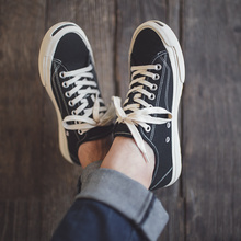 日本冈ny久留米vityge硫化鞋阿美咔叽黑色休闲鞋帆布鞋