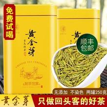 黄金芽ny021新茶ty前特级安吉白茶高山绿茶250g黄金叶散装礼盒
