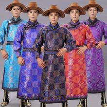 新式蒙of服装男士传96蒙古袍少数民族舞蹈演出服日常生活长袍