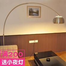 简约现of创意LEDre将灯遥控客厅沙发落地灯卧室书房钓鱼灯