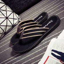 的字拖of防滑韩款潮ic沙滩个性凉拖夏季越南拖鞋男式夹板托鞋
