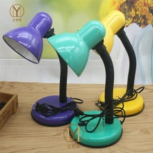普通桌og卧室老的用si台灯插线式床前灯插电护眼灯具简易桌子
