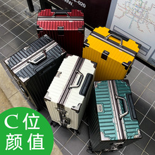 ck行李箱男女24寸铝框ok9向轮旅行fu密码皮箱子拉杆箱登机20寸