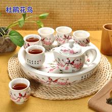 特价 整套景德镇陶瓷双层ok9具套装青on茶盘功夫茶杯花茶壶