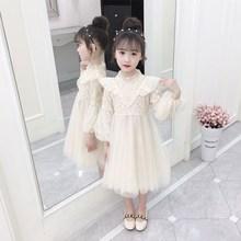 女童洋ok连衣裙秋冬on6六7八8十9周岁12女孩时髦公主裙子网纱