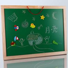 实木儿ok双面(小)黑板vq画板可擦粉笔支架式家用教学
