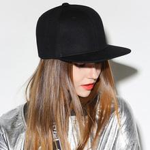 涤纶纯色ol1子hipvi女士不可调节全封闭嘻哈帽街舞后封口平沿帽
