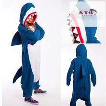秋冬季ol通动物大鲨vi睡衣情侣男女宝宝亲子家居服演出服长袖