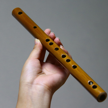 便携式ol型随身乐器gn笛初学短袖珍竹笛(小)降b(小)c调无膜孔