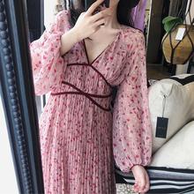 沙滩裙ol020新式gn假巴厘岛三亚旅游衣服女超仙长裙显瘦连衣裙