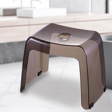 SP omAUCE浴fy子塑料防滑矮凳卫生间用沐浴(小)板凳 鞋柜换鞋凳