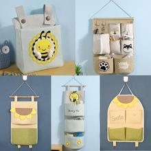 门口收纳袋挂om3墙挂款布x8韩国可爱浴室大号门后收纳挂袋