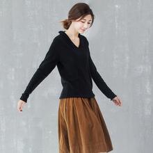 诗龄专柜品质斯琴针织衫阿达尼风格女上on15毛衣套ea0秋装v领