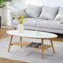 橡胶木on木日式茶几ea代创意茶桌(小)户型北欧客厅简易矮餐桌子