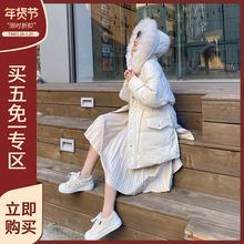 林诗琦 宽松棉服女中长式韩款on11生20mi季外套棉衣面包服