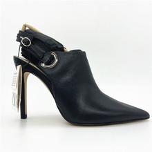 好货真on尖头包头凉of跟性感女鞋细跟后空大码职业跟鞋