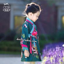 女童汉on连衣裙旗袍in9童装新式宝宝中国风复古中式改良韩服裙女