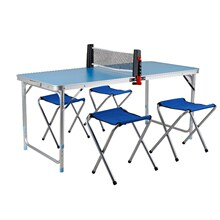 简易儿on(小)学生迷你in摆摊学习桌家用室内乒乓球台