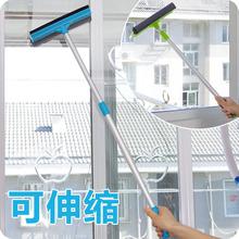 刮水双on杆擦水器擦in缩工具清洁工神器清洁�{窗玻璃刮窗器擦