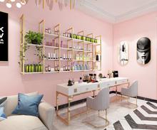 美甲架op产品货架展nc上壁挂简约现代店面美容院化妆品展示柜