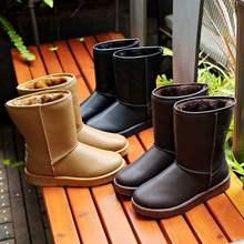 冬季中op雪地靴女式cn水韩款保暖棉靴防滑短筒靴加厚学生棉鞋