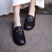 Artopu阿木20ub式英伦(小)皮鞋穆勒鞋单鞋一脚蹬乐福鞋马衔扣女鞋