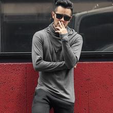 春装新or英伦风垂领on男装修身高领毛衣男灰色毛衣针织衫J783