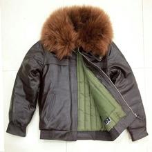 特价大or0羊毛领加on车航空短式真皮皮衣头层牛皮外套皮夹克