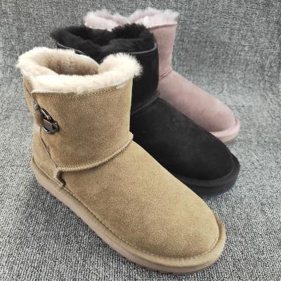 工厂断os处理201so女靴子羊皮毛一体加厚防滑冬季女靴子棉鞋