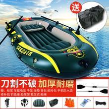 救援环ou硬底充气船lb橡皮艇加厚冲锋舟皮划艇充气舟。冲锋船