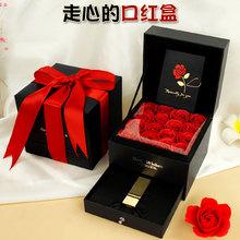 圣诞节ou红礼盒空盒pb日礼物礼品包装盒子1一单支装高档精美