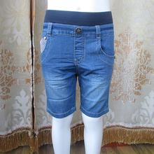 清仓淘ou币男童夏季ki童夏式裤子条纹格子运动牛仔裤断码甩