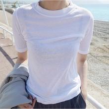 2021夏季新式韩国修身打底衫春ou13装内搭ki袖T恤女上衣潮
