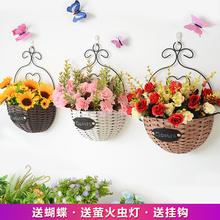 装饰客ou墙面卧室装ki上装饰挂件墙壁挂墙装饰花创意