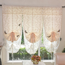隔断扇ou客厅气球帘ta罗马帘装饰升降帘提拉帘飘窗窗沙帘