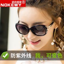 新式防ou外线太阳镜da色偏光眼镜夜视日夜两用开车专用墨镜女