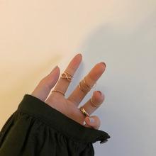 甜酸7ou套装戒指女da性ins潮冷淡风(小)指食指戒网红手饰品