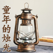 复古马ou老油灯栀灯da炊摄影入伙灯道具装饰灯酥油灯