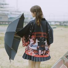 漫衣格ou创伏见稻荷ng羽织日式系和风开衫男女服装百搭秋冬季