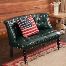 欧式复ov(小)沙发椅皮br沙发客厅卧室(小)户型奶茶甜品店咖啡厅