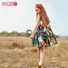 女童裙ov2020新rt童连衣裙女大童洋气童装公主裙沙滩裙夏装